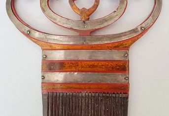 Ornamental Lacquered Comb from Indonesia